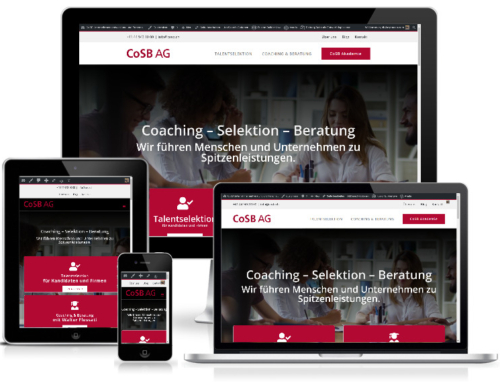 Creation of the website of CoSB AG