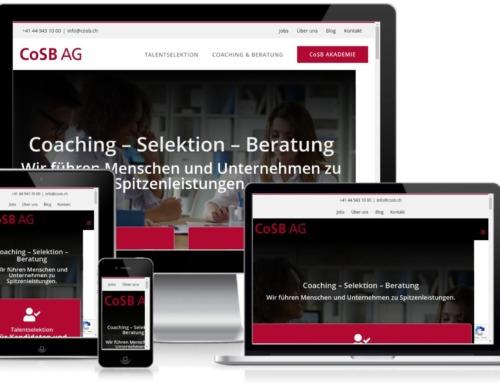 Erstellung der Website der CoSB AG