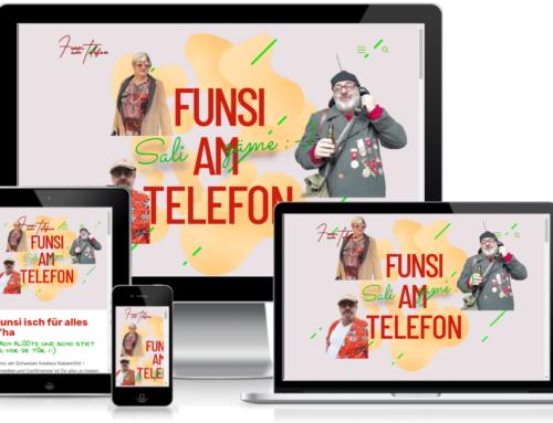 Neue Website für Funsi am Telefon